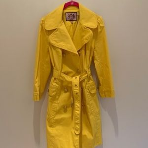 Juicy Couture Yellow Trenchcoat